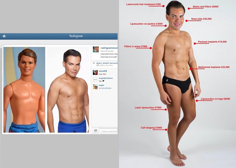 Brazilian man spent over $175 000 in order to look like real life Ken doll