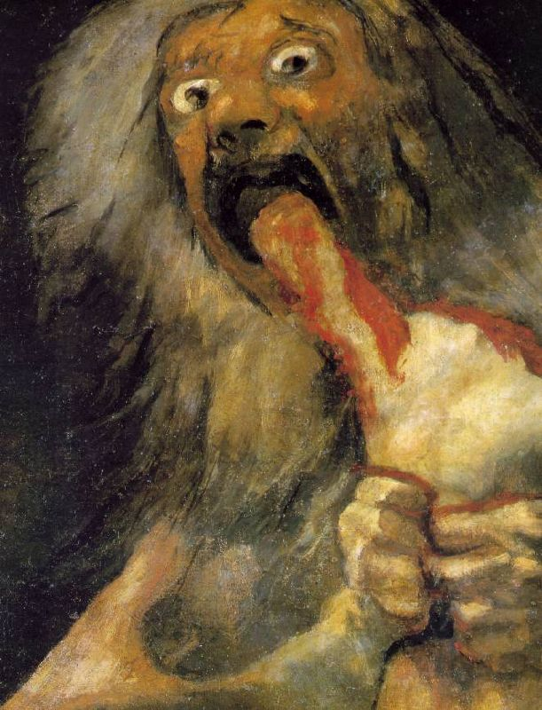 "Francisco Goya ""Saturn Devouring His Son"""