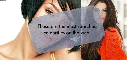 These are the most searched celebrities on the web.