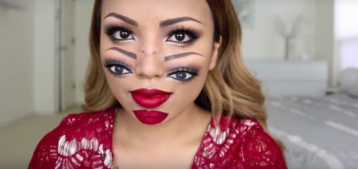 This mind bending Halloween makeup will make you see double!!