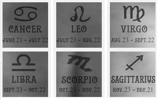 Find out which subtle tattoo you should get based on your for How do you find your zodiac sign
