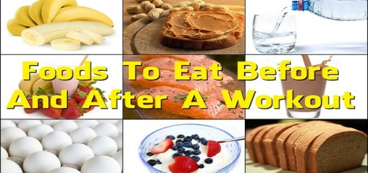 Workout nutrition - Know what to eat before and after a workout