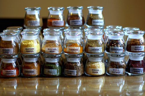 Attractive glass jars for the kitchen