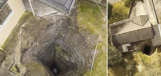 This bungalow built on an old mining site might soon be swallowed up by Earth!
