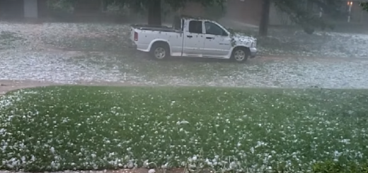 Hailstorm that ravaged Oklahoma shows Ice as large as baseballs Let's watch it