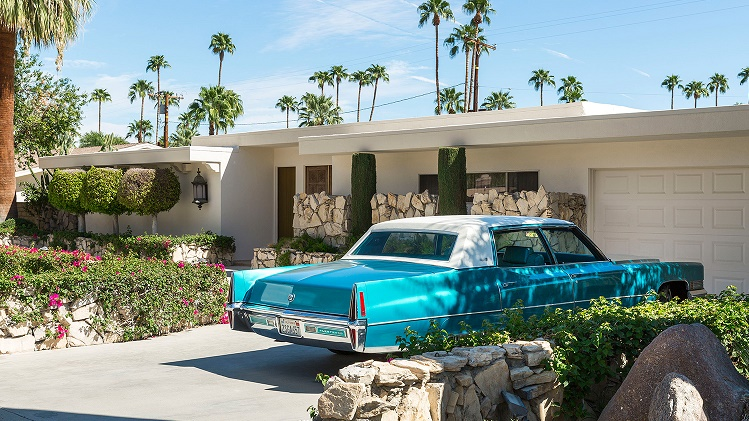 This home was abandoned for almost half a decade but it for Palm springs modern furniture