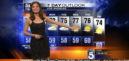 Weather reporter asked to cover herself up mid report by fellow News Anchor