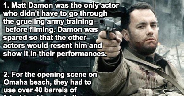 7 must read behind the scenes stories from saving private ryan for Food bar saving private ryan