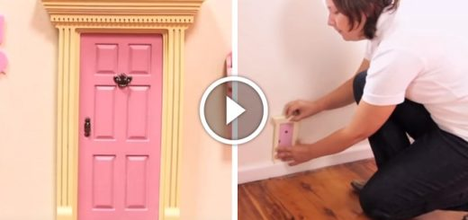 Mom installed a pink door on her daughter's wall, and now this door is selling like hot cakes