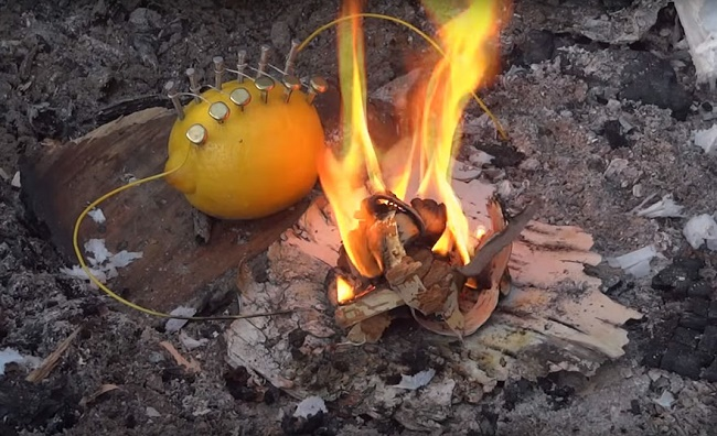 fire from lemon