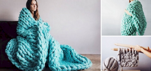 A huge DIY blanket to keep you snug and warm in winter. Here's how to make it
