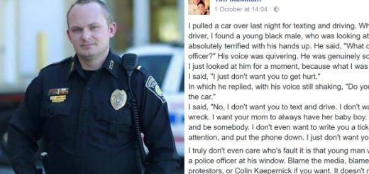 This Police Officer's humane response to a terrified teenager he pulled over is going viral