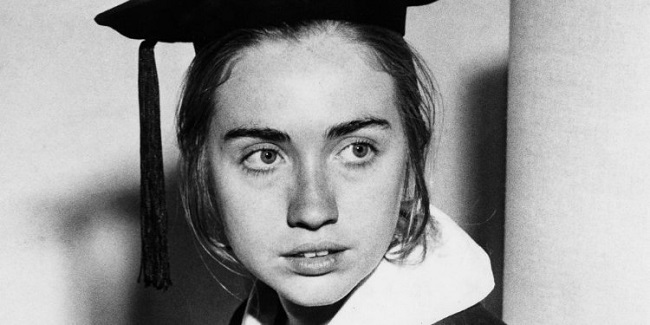 Hillary Clinton in college days