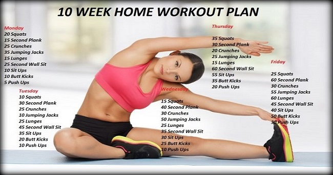 Who says you need a gym? This ten week no gym workout plan ...