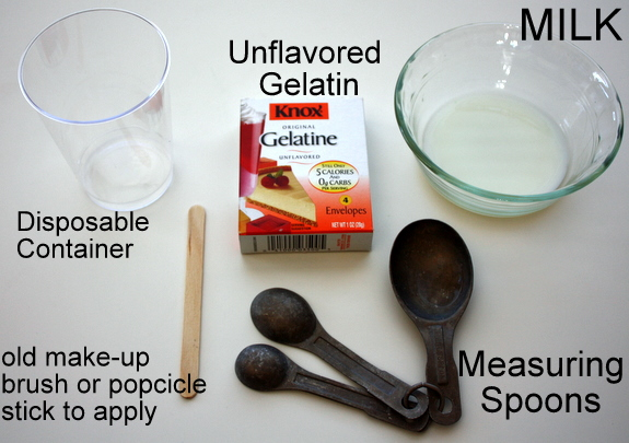Use good quality milk and gelatin