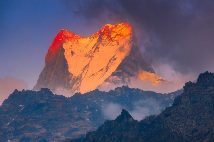 Macchapuchare or the fishtail mountain, Nepal