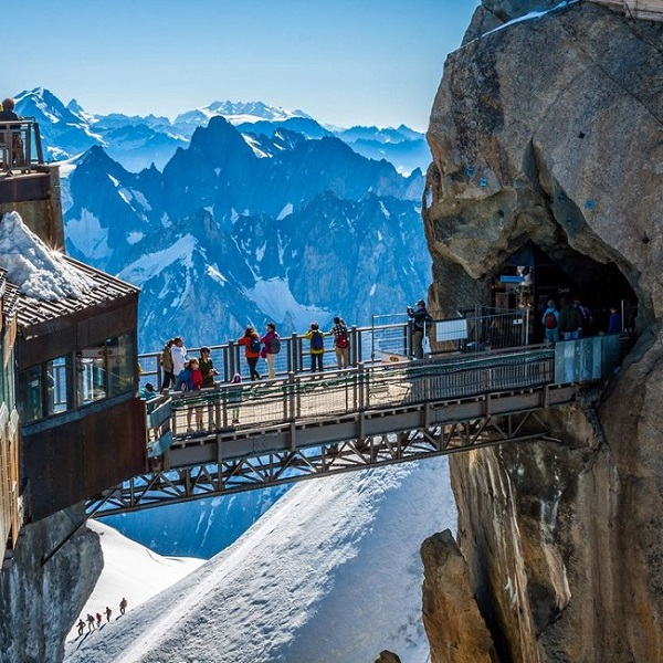 Aiguille Du Midi Bridge- Mont Blanc Massif, France