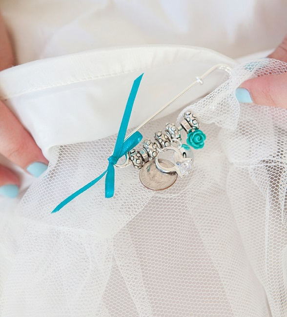 "Brides wearing something ""blue"" and something ""old"""