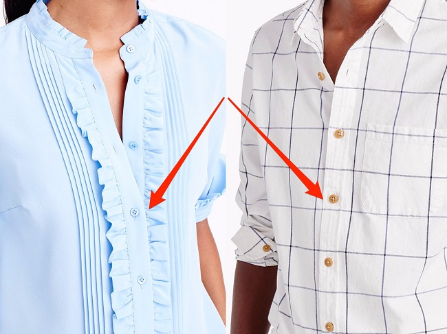 The Reasons Why The Buttons Of Men And Women S Shirts Are