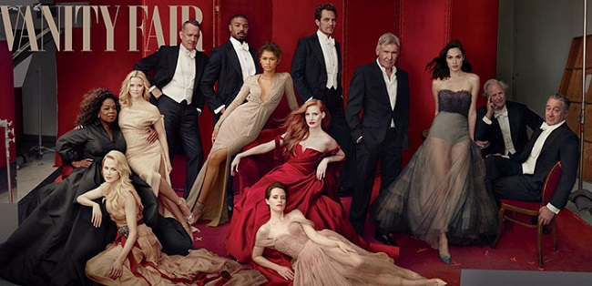 On the Vanity Fair's cover photo, Reese Witherspoon was seen with three legs
