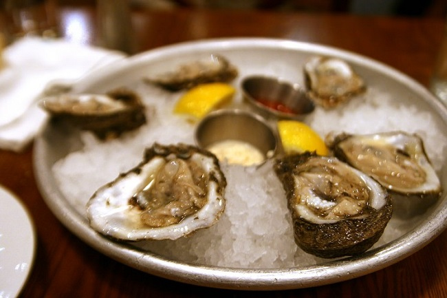 warnings against raw oysters