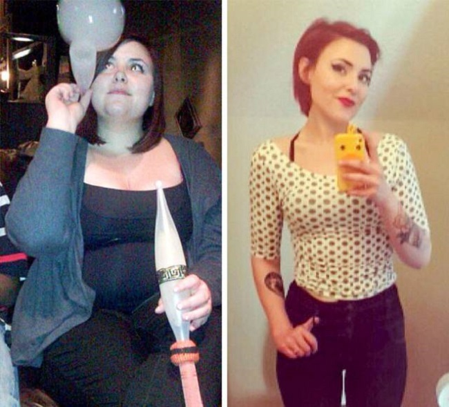 girl after loosing weight